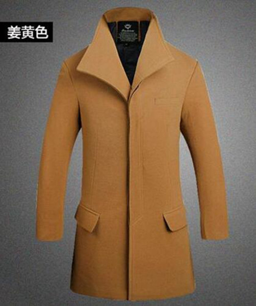Man han edition fashion in Europe and the United States the new boutique long winter cloth trench coat / M-5XL