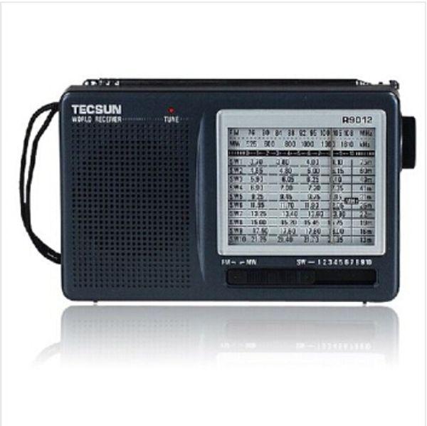 Wholesale-Original TECSUN R9012 portable radio fm High Sensitivity MW SW 12Bands Good Speaker am radio kit Free Shipping