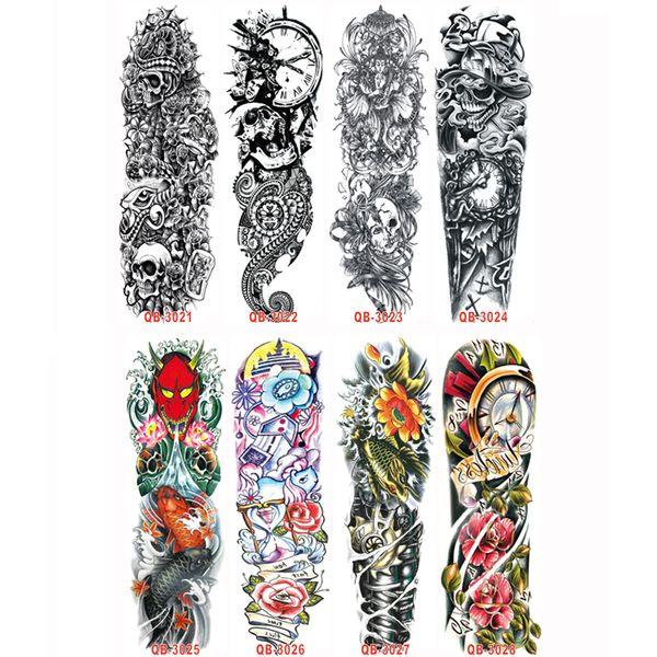 Großhandels-3Pcs 3D Beauty Makeup wasserdicht temporäre Aufkleber für Männer Frauen auf seinem Arm temporäre Tattoos Sexy Produkt übertragbare Tattoo