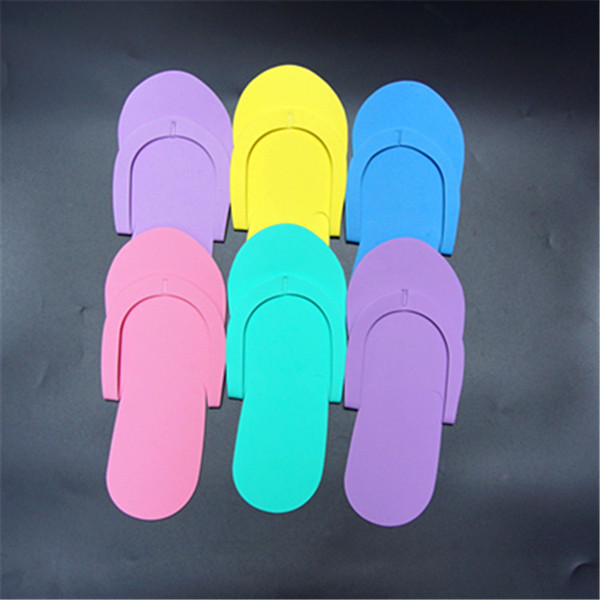 top popular EVA Slipper Foam Salon Spa hotel Slipper Disposable Pedicure thong Slippers Disposable slippers Beauty Slipper Free Shipping 2019