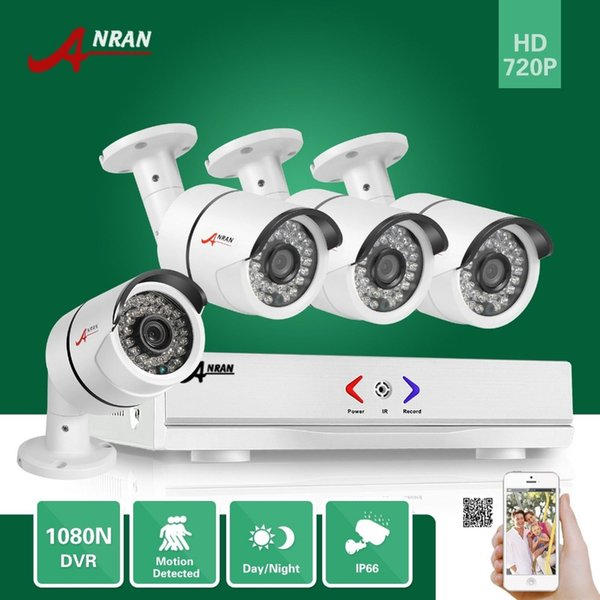 ANRAN 4CH HDMI 1800N AHD DVR 1800TVL 720P 36 IR Day Night Outdoor Waterproof Day Night Video Security Camera Home CCTV Surveillance System