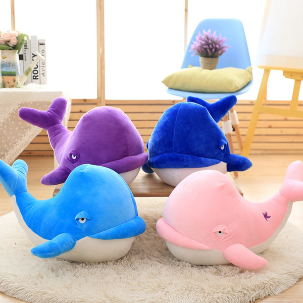 wholesale wedding doll birthday present female dolphins Drop shipping 25-60cm Cartoon fish Lovely whales pillow doll plush toys