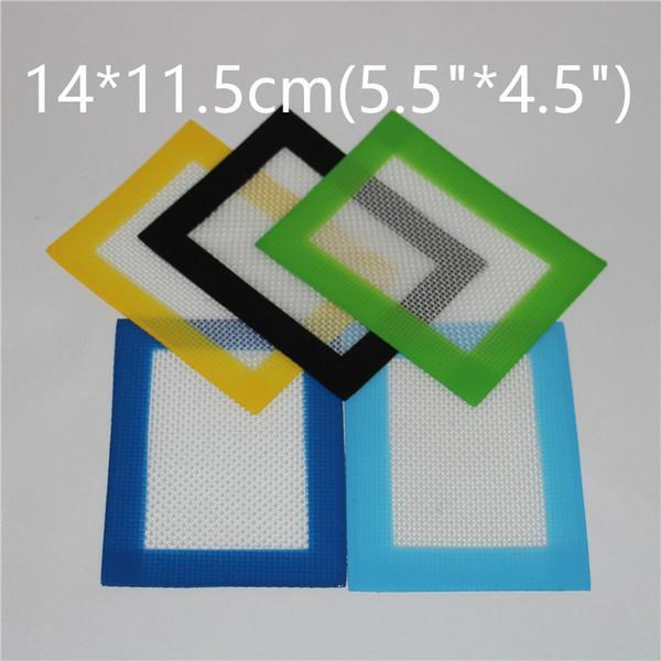 Venta al por mayor de silicona antiadherente Dab Mat para cera de 140 * 115 mm (5.5 * 4.5 pulgadas) Cera de cera BHO Dab Pad esteras esteras de silicona