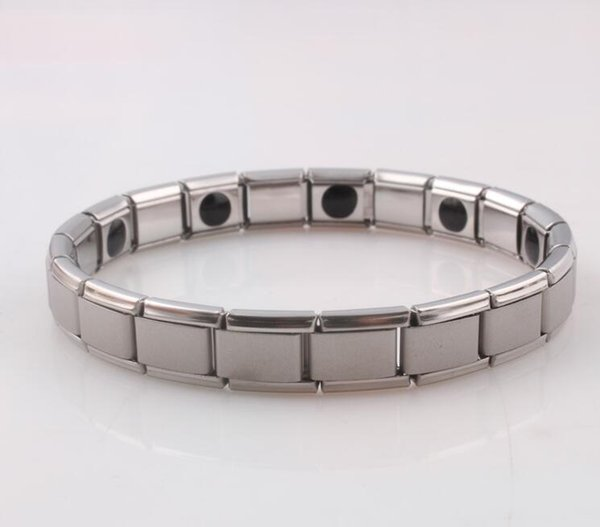 hot selling New arrival 10pcs Energy bracelet Titanium, Nano Energy Magnetic Germanium Titanium Bracelet Pain Relief Powerfull! 50