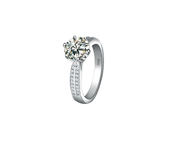 flower Shape 2CT Confessions SONA Synthetic Diamond Ring For Women Wedding ring 925 Sterling Silver Jewelry Fine Platinum Plated BA89688