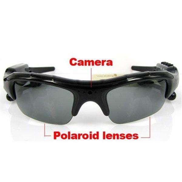 Buena calidad 8GB deporte gafas de sol DVR Digital Video Recorder + reproductor de MP3 + auriculares Bluetooth para la tableta iphone7 envío gratis