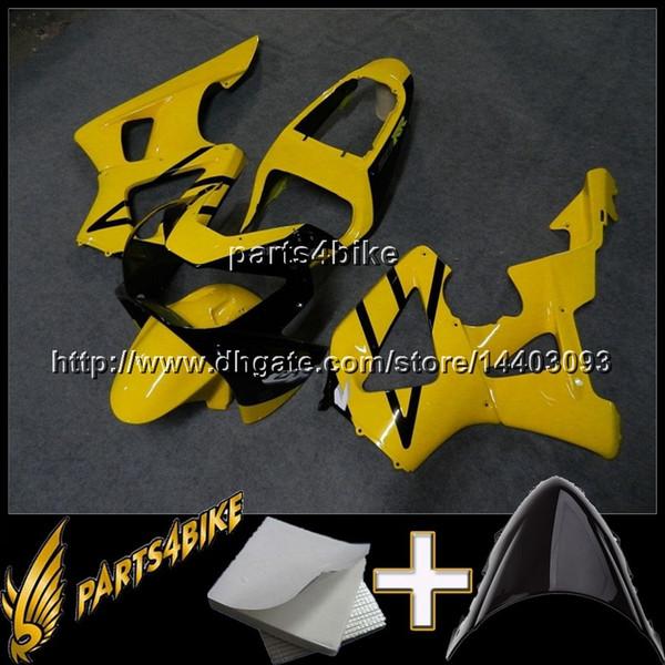 23colors + Geschenke GELBE Motorradverkleidung für HONDA CBR954RR 2002-2003 CBR954 RR 02 03 ABS Plastikverkleidung