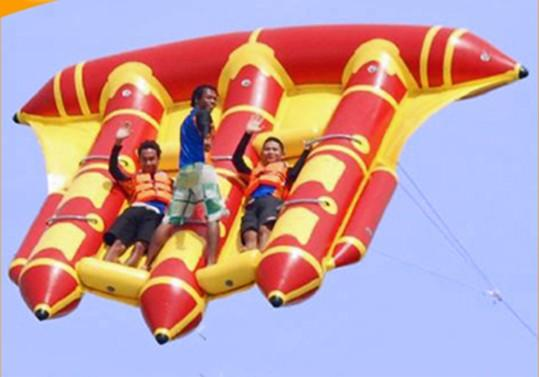 top popular inflatable flying fish tube towable fly fish water sports inflatable towable 2021