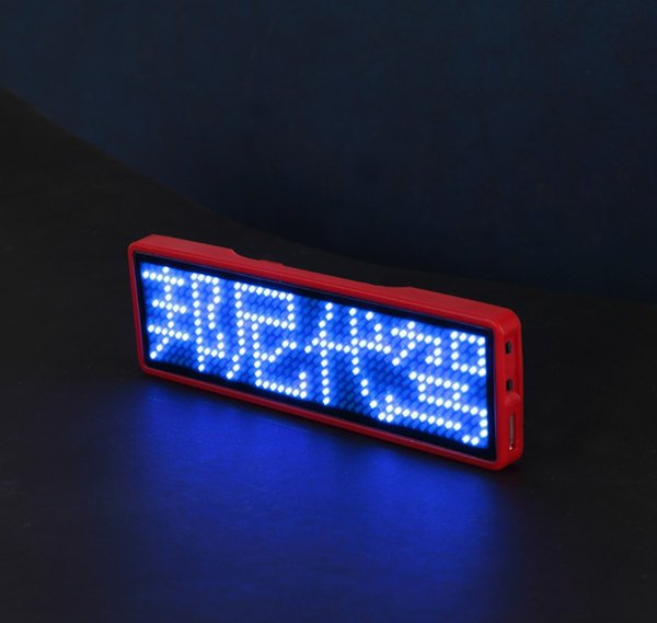 USB programmabile nome del led blu badge nome del LED tag display digitale digitale badge Scrolling LED Signs