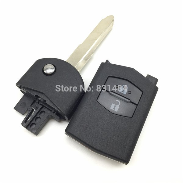 2 Buttons Flip Remote Car Key Case Shell for Mazda 2 3 5 M6 Replace Original Flip Mazda Key Shell