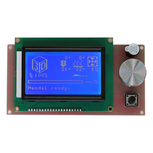 Freeshipping Upgradest Biggest LCD Screen 12864 for Anet A6 3D Printer With Blue Screen More Information Showing Easy control