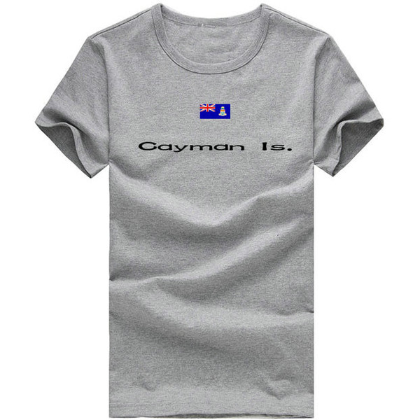 Cayman Island T shirt Sweat uptake sport short sleeve Relax youth tees Nation flag clothing Unisex cotton Tshirt