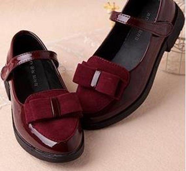 Kinder Mädchen Klassische Mädchen PU Leder Schuhe Kinder Prinzessin Leder Schuhe PU 3 Farben Casual Baby Blume Rosa Mädchen Mode Schuhe