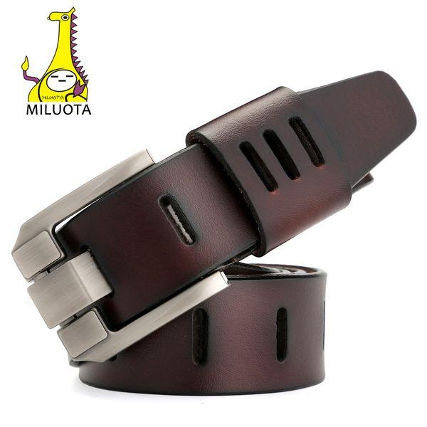 [Miluota] Designer Cinture Da Uomo Cintura di Cuoio Genuino di Alta Qualità Per Gli Uomini di Lusso Ceinture Homme Stile Militare 130 cm Mu012