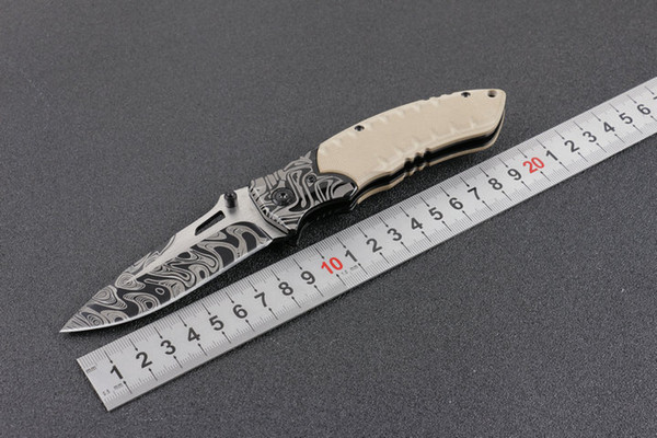 New F93 G10 Tactical Folding Knife 5Cr15Mov Outdoor Camping Hunting Survival Pocket Knife Military Utility EDC Tools with Retail Package