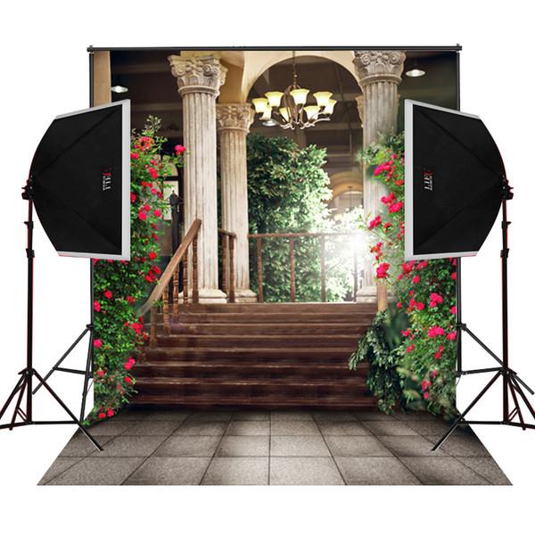 balcone gallary garden blossoms scenografie fotografia fondale per matrimoni fotografia digitale panno studio prop foto sfondo vinile