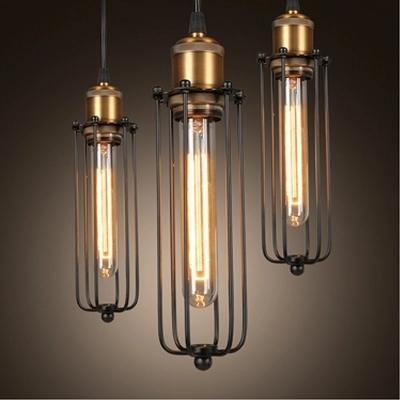 Einzelner Kopf Weinlese-Retro- Restaurant-Pendelleuchten Amerikanischer Landhausstil Edison-Flötenlampe Industrielager Loft-Licht