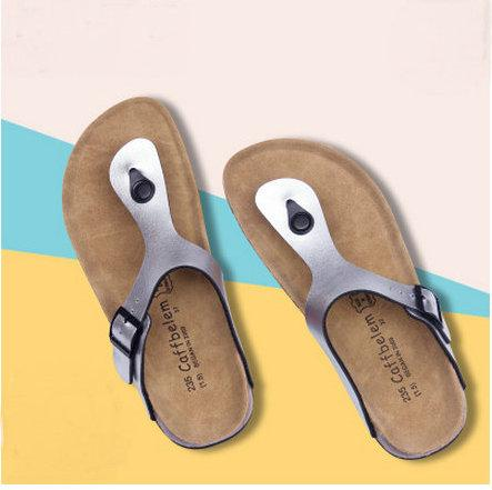 Hot sell Beach Cork Flip Flops Slipper 2017 Casual Summer Women Mixed Color Outdoors Sandals Flat Shoe Free Shipping Plus Size