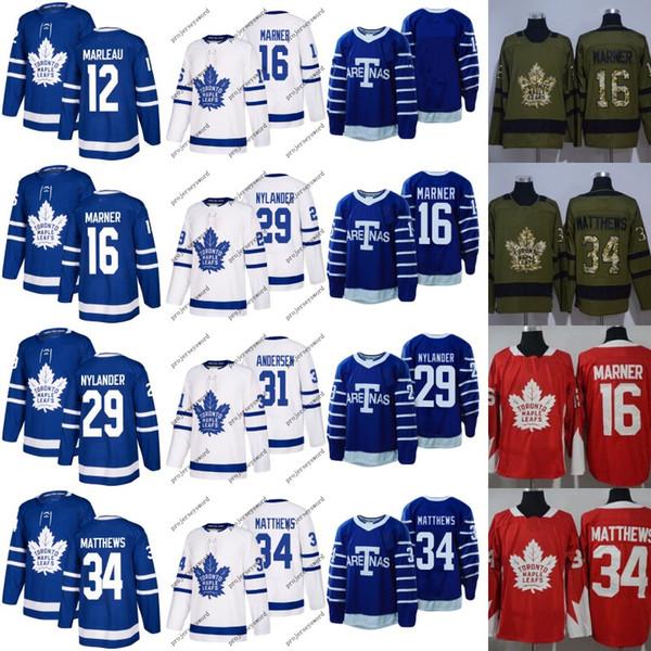 Mens 2017-18 Toronto Maple Leafs 12 Patrick Marleau 29 William Nylander 31 Frederik Andersen 16 Mitchell Marner 34 Auston Matthews Jerseys