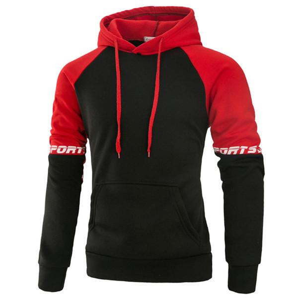 Wholesale- New Men's Hoodies Hombre Sudaderas Hip Hop Mens Brand Letter printing Hooded pullover 3d hoodies Sweatshirt Slim Fit Men Hoodie