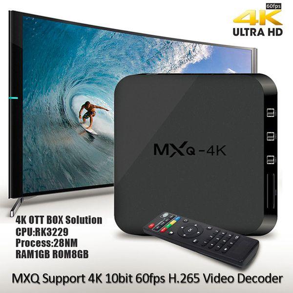Quad-core 1G 4k 1080p HD numérique récepteur Internet Android décodeur intelligent TV box connecté USB HDMI réseau WiFi DVB avec emballage de vente au détail