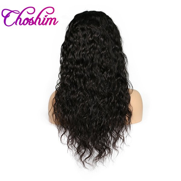 Choshim Slove Brazilian Full Lace Human Hair Wigs For Black Women With Baby Hair Natural Remy Human Hair Water Wave Wigs Free Ship