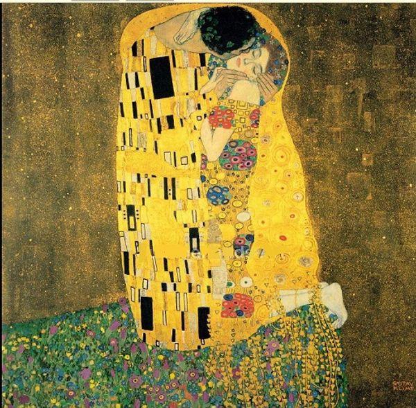 Multi Custom Sizes /Frame Available Handpainted / HD Print Gustav Klimt The Kiss 1909 Famous Portrait FINE Art Oil Painting On Canvas Kl09