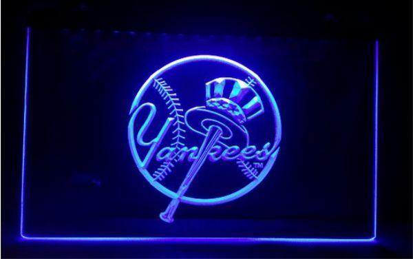 b-224 York Yankees beer bar pub club 3d signs led neon light sign home decor crafts