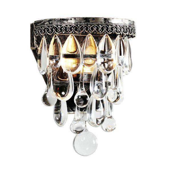 Crystal Wall Lamp Vintage Luxury Crystal Wall Light E14 Sconce Wall lights LED Bar Light Flexible Light Fixtures
