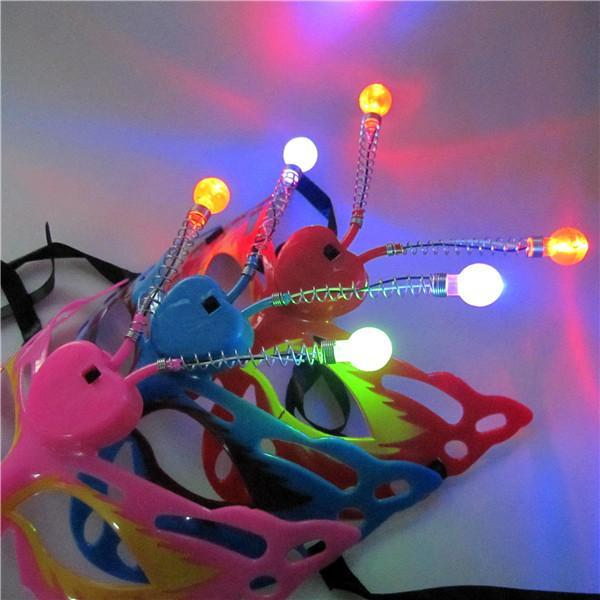 Wholesale Halloween mask luminous butterfly shape cartoon princess party prom gift stall toys for children
