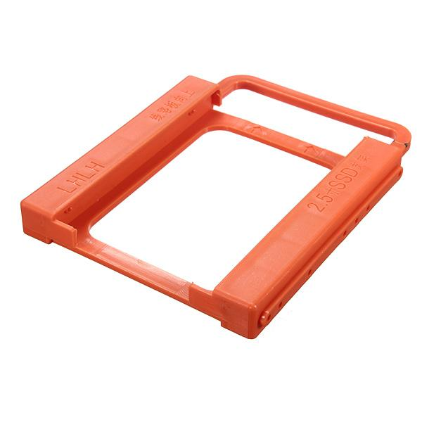 Wholesale- New SSD to HDD 2.5 to 3.5 Screw-less Mounting Adapter Bracket Hard Drive Holder