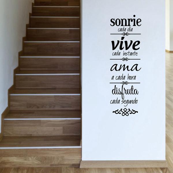 Free Shipping Spanish House Rules Wall Sticker Home Decoration , Spanish  Version NORMAS DE CASA Vinilos