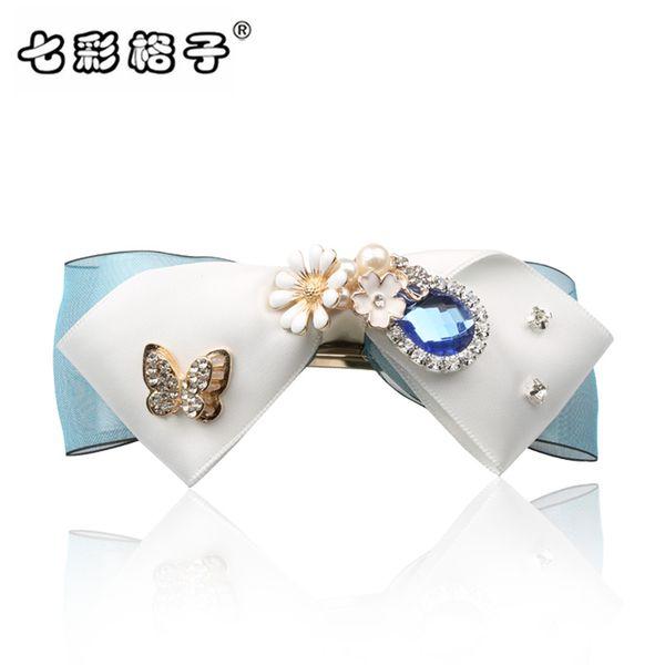 Woman headdress hair Colorful hair Scrunchies aesthetic Korea imitation diamond edge clip clip ponytail fashion jewelry A0203