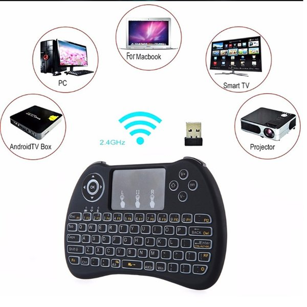 Air mouse controle Remoto H9 mini Game Sem Fio Lidar Com Touchpad Teclado Retroiluminado e Mouse para Projetor Android Tudo-em-um PC Smart TV Caixas