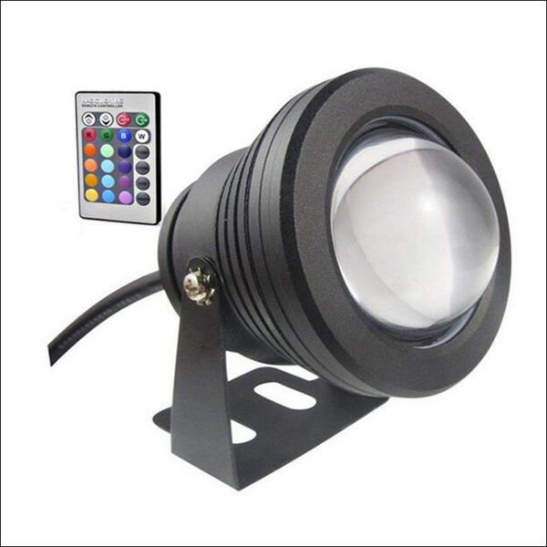 LED RGB luce LED subacquea 10W LED fontana DC AC 12V con custodia in alluminio IP68 1 telecomando IR