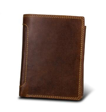 Classical European and American Style Crazy horsehide Leather Men Wallets Fashion Purse Card Holder Vintage Man Wallet