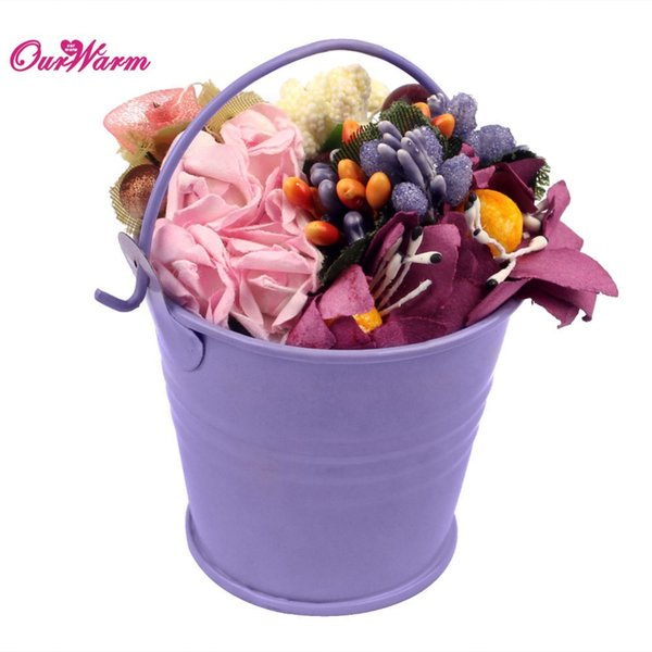 12pcs Mini Tin Bucket Wedding Candy Bag Candy Box Wedding Favor Box Decorative Metal Buckets for Flowers Gift Party Supplies <$16 no trackin