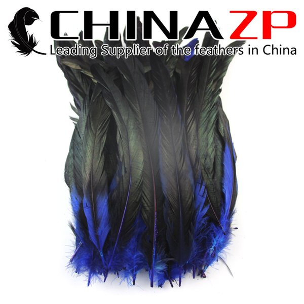 Leading Supplier Chinazp Feathers 25~30cm(10~12inch) High Quanlity Original Royal Blue Rooster Tail Bulk Feather For Sale