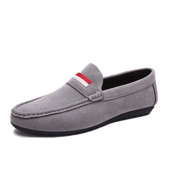 Vente en gros-2016 été nouvelle version coréenne mâle respirant de chaussures décontractées couleur unie en cuir mat Pois chaussures marée mode chaussures paresseuses