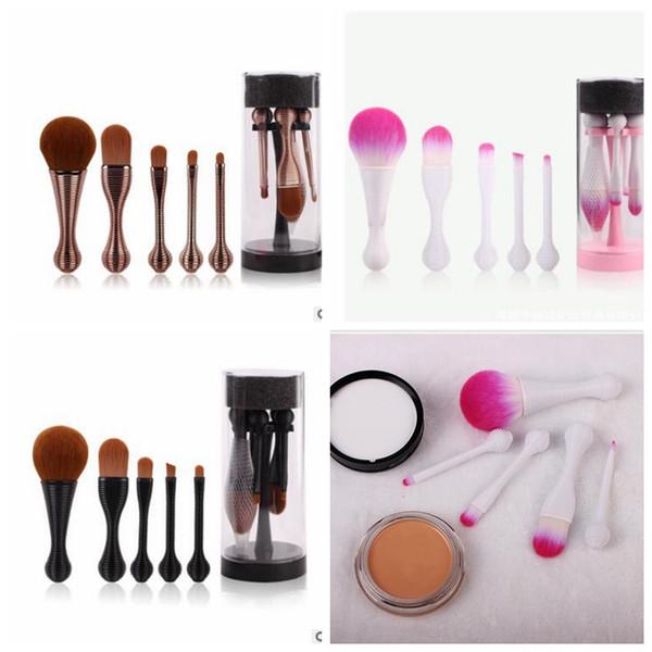5pcs 1 set Lollipop Blending Pennelli trucco Set Pro Makup Brush Foundation Powder Blush Ombretto Pennelli cosmetici Kit Con scatola KKA3069