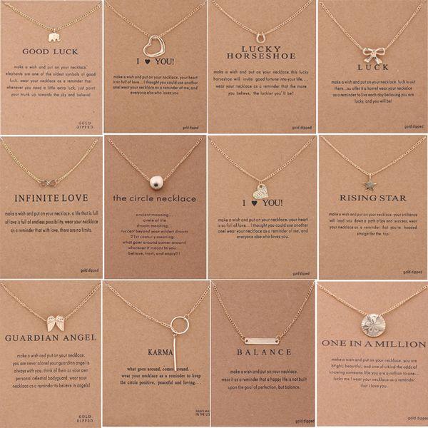 60 estilos dogdog colar choke com cartão de prata cor de ouro boa sorte elefante pingente nobre choker valentine presente de natal