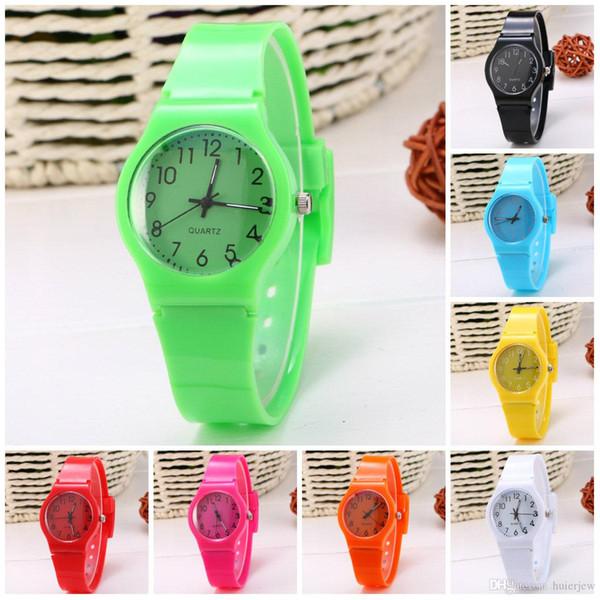 Orologi Donna Sport color caramella 12 colori gelatina orologio cinturino in silicone per il tempo libero