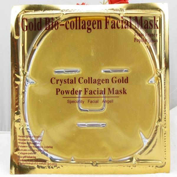 Máscara facial de bio-colágeno de oro Mascarilla facial Mascarilla facial de colágeno de cristal de oro Hidratante anti-envejecimiento