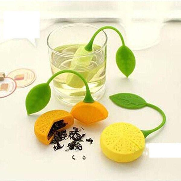 best selling Hot Sale Lemon leaf Silicone Teabag Silicon Drinker Teapot Teacup Herb Tea Strainer Filter Infuser Lemon Style Tea Bag Coffee tools