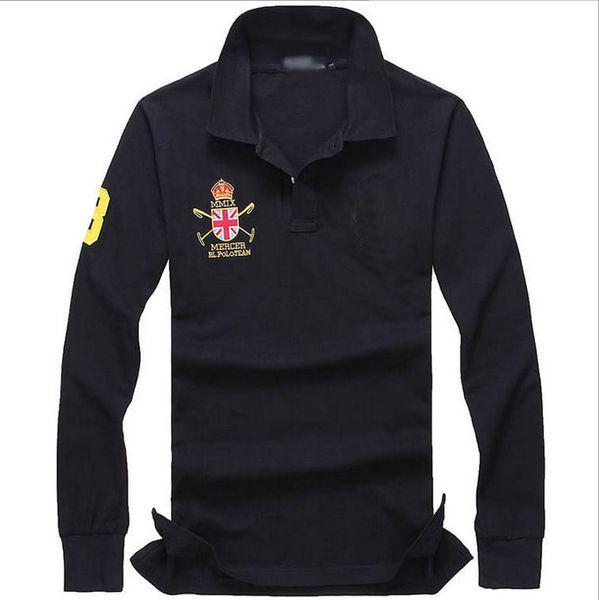 outlet store 235de 8f9a6 Acquista All'ingrosso 2017 Estate Vendita Calda Polo Shirt Bandiera  Americana Marca Polo Uomo Manica Lunga Polo Sportivo 891 # Uomo Cappotto  Goccia, ...