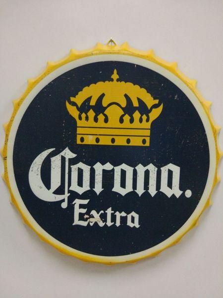 Corona Extra Vintage круглая жестяная вывеска на бутылке с крышкой для пива Пивная металлическая табличка с металлическим постером для домашнего бара ресторан кафе