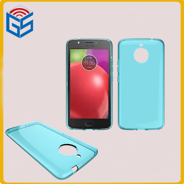 For Moto E4 Plus Clear Case Transparent TPU Back Cover For Motorola E (4th Gen) Plus