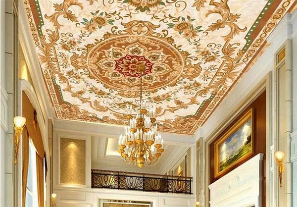 3d floor tiles wallpaper Custom floor tiles Beige marble carpet 3d mural wallpaper for living room pvc flooring