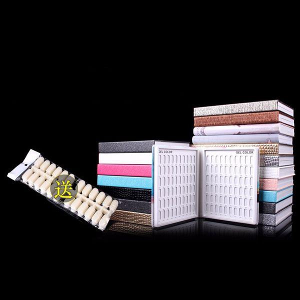 Carta profesional del libro de la tarjeta de exhibición del polaco del gel de 120colors del clavo con las extremidades del clavo 130pcs envío libre de la alta calidad