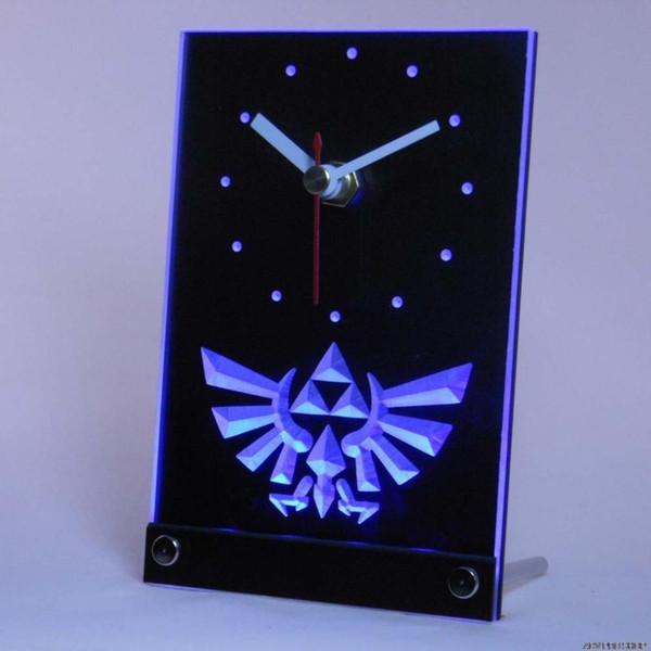 Al por mayor-tnc0204 Legend Of Zelda Triforce Table Desk 3D LED Clock